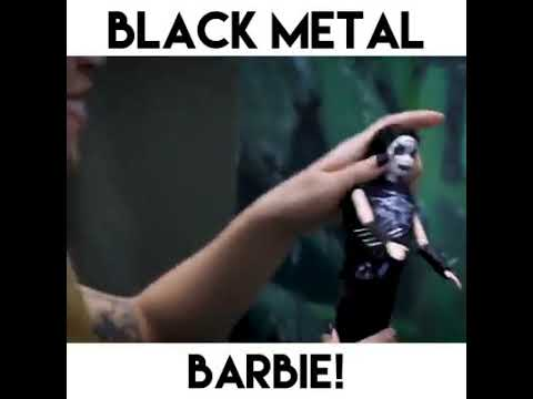 Black Metal Barbie Puppe (FUN)